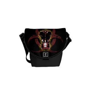 Máscara de gás do Biohazard customizável Bolsa Mensageiro