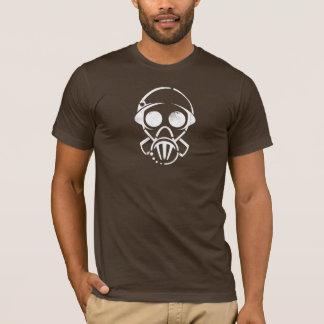 máscara de gás [o T] dos homens (obscuridade) Camiseta
