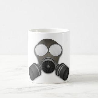 Máscara de gás realística caneca