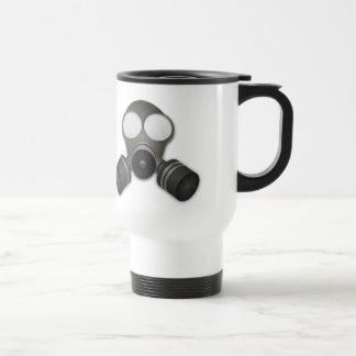Máscara de gás realística caneca térmica