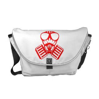 Máscara de gás vermelha bolsa mensageiro