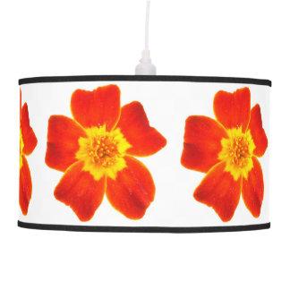 Máscara de lâmpada amarelo alaranjado das flores