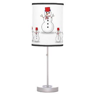 Máscara de lâmpada decorativa do boneco de neve do