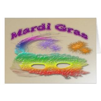 Máscara do carnaval cartão comemorativo