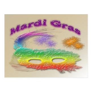 Máscara do carnaval cartão postal