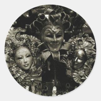 Máscara do carnaval de Veneza do carnaval Adesivo