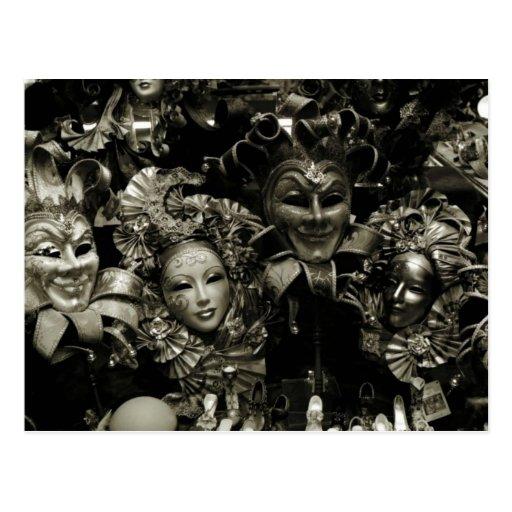 Máscara do carnaval de Veneza do carnaval Cartão Postal