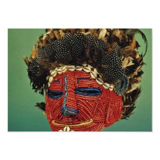 Máscara do culto, Zaire, África Convite 12.7 X 17.78cm