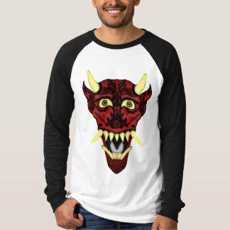 máscara do demónio do hannya camiseta