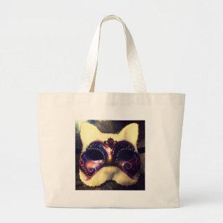 Máscara do gato sacola tote jumbo