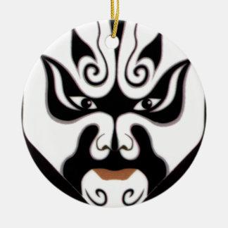 Máscara do japonês de China Japão da ópera de Ornamento De Cerâmica Redondo