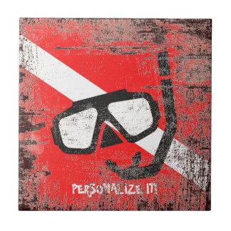 Máscara do mergulho com bandeira