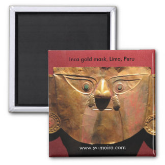 Máscara do ouro do Inca Lima Peru