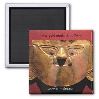 Máscara do ouro do Inca, Lima, Peru Imas