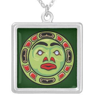 Máscara indiana da lua do nativo americano do Haid Colar