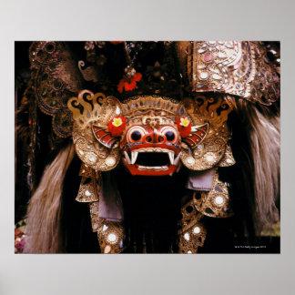 Máscara indonésia poster