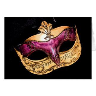 máscara musical cartão comemorativo