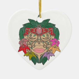 Máscara Ornamento De Cerâmica Coração