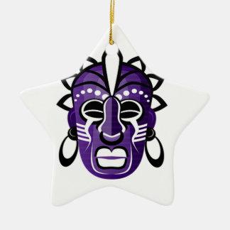 Máscara Ornamento De Cerâmica Estrela