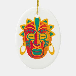 Máscara Ornamento De Cerâmica Oval