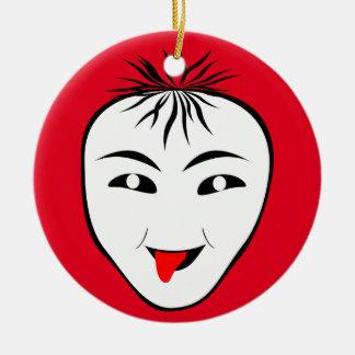 Máscara Ornamento De Cerâmica Redondo