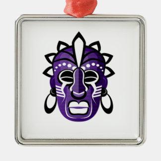 Máscara Ornamento Quadrado Cor Prata
