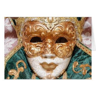 Máscara Venetian Cartão