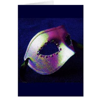 Mascarada azul da meia-noite cartão comemorativo