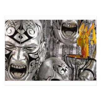 Mascarada de prata do carnaval cartão postal