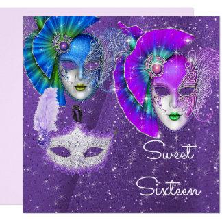 Mascarada, doce dezesseis do carnaval, convite