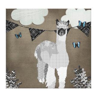 Máscaras da alpaca da arte cinzenta das canvas impressão de canvas esticada