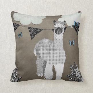 Máscaras da alpaca do travesseiro cinzento de Mojo
