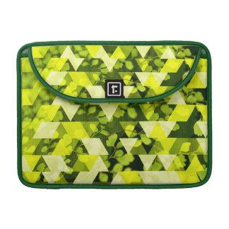 Máscaras da folha verde bolsas MacBook pro