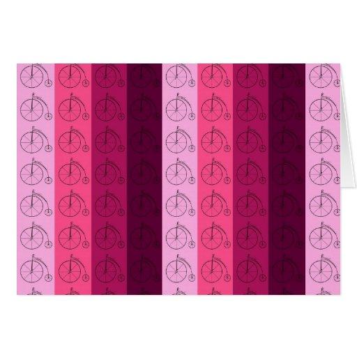 Máscaras de bicicletas cor-de-rosa cartões