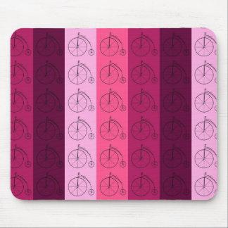 Máscaras de bicicletas cor-de-rosa mousepads