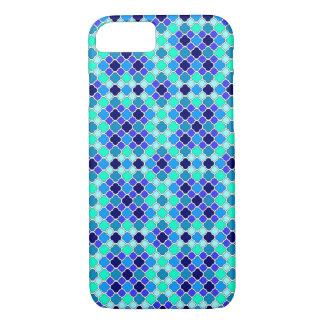 Máscaras diminutas do azul, da cerceta & do Aqua Capa iPhone 7