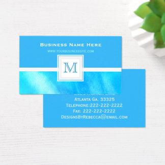 Máscaras do azul: Cartão de visita do monograma