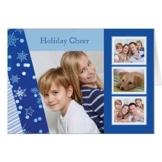 Máscaras do azul - cartão dobrado feriado da foto