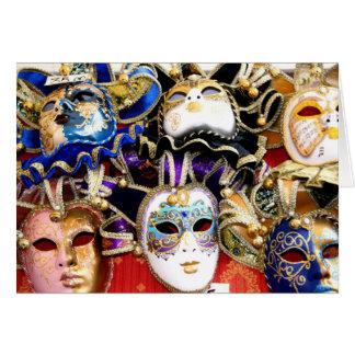 Máscaras do carnaval cartão