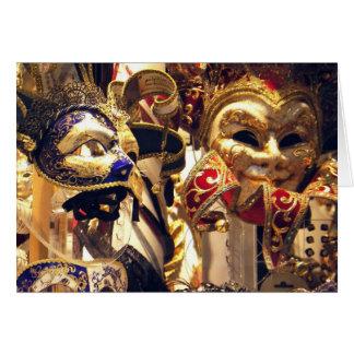 Máscaras do carnaval cartoes