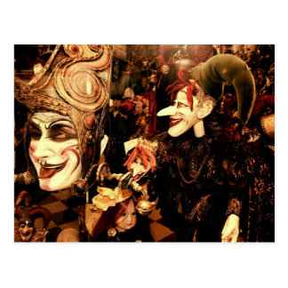 Máscaras do carnaval cartoes postais