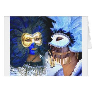 Máscaras do carnaval, Veneza Cartão Comemorativo