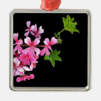 máscaras do rosa no preto ornamento quadrado cor prata