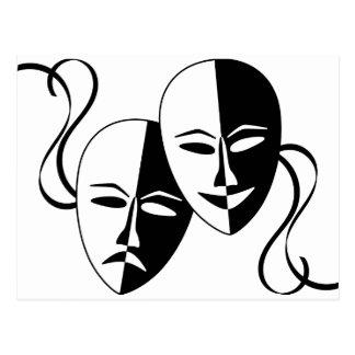 Máscaras do teatro cartão postal