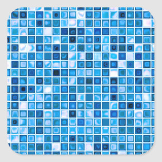 """Máscaras do teste padrão """"aquoso"""" azul dos adesivo quadrado"""