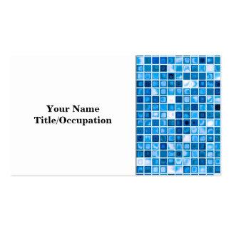"""Máscaras do teste padrão """"aquoso"""" azul dos cartão de visita"""