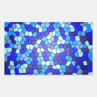 Máscaras do vitral azul adesivo retangular