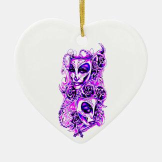 Máscaras Ornamento De Cerâmica Coração