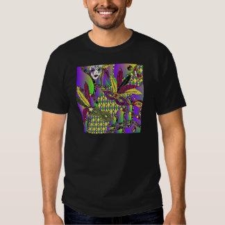 Máscaras psicadélicos da pena do carnaval t-shirt