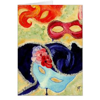 Máscaras Venetian - cartão
